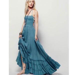 Dresses & Skirts - Blue Backless Maxi Dress